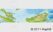 Physical Panoramic Map of Malaysia