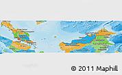 Political Panoramic Map of Malaysia