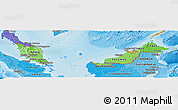Political Shades Panoramic Map of Malaysia