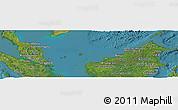 Satellite Panoramic Map of Malaysia