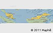 Savanna Style Panoramic Map of Malaysia