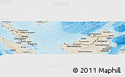 Shaded Relief Panoramic Map of Malaysia