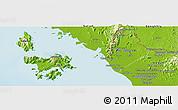 Physical Panoramic Map of Perlis