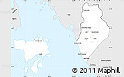 Silver Style Simple Map of Perlis