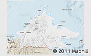 Classic Style 3D Map of Sabah