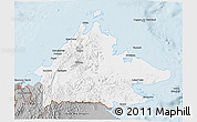 Gray 3D Map of Sabah
