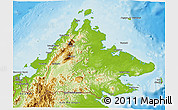 Physical 3D Map of Sabah