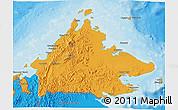 Political 3D Map of Sabah