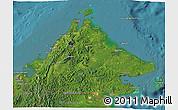 Satellite 3D Map of Sabah
