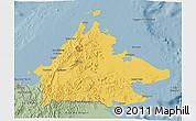 Savanna Style 3D Map of Sabah