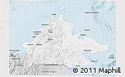 Silver Style 3D Map of Sabah