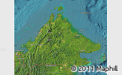 Satellite Map of Sabah