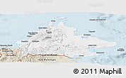 Classic Style Panoramic Map of Sabah