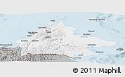Gray Panoramic Map of Sabah