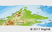 Physical Panoramic Map of Sabah