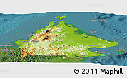 Physical Panoramic Map of Sabah, satellite outside