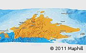 Political Panoramic Map of Sabah