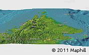 Satellite Panoramic Map of Sabah