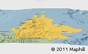 Savanna Style Panoramic Map of Sabah