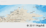 Shaded Relief Panoramic Map of Sabah