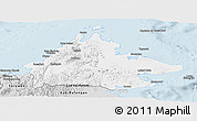 Silver Style Panoramic Map of Sabah