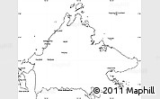 Blank Simple Map of Sabah