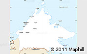 Classic Style Simple Map of Sabah