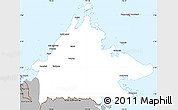Gray Simple Map of Sabah