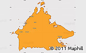 Political Simple Map of Sabah, cropped outside
