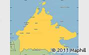 Savanna Style Simple Map of Sabah