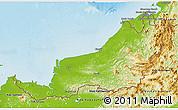 Physical 3D Map of Sarawak