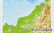 Physical Map of Sarawak