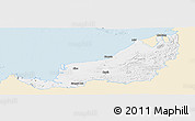 Classic Style Panoramic Map of Sarawak, single color outside