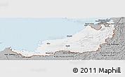 Gray Panoramic Map of Sarawak