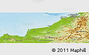 Physical Panoramic Map of Sarawak