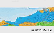 Political Panoramic Map of Sarawak