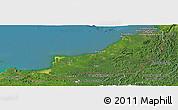Satellite Panoramic Map of Sarawak