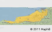 Savanna Style Panoramic Map of Sarawak