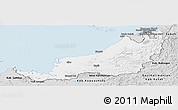 Silver Style Panoramic Map of Sarawak