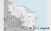Gray Panoramic Map of Terengganu