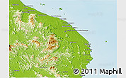 Physical Panoramic Map of Terengganu