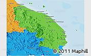Political Panoramic Map of Terengganu