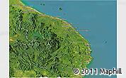 Satellite Panoramic Map of Terengganu