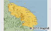 Savanna Style Panoramic Map of Terengganu