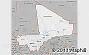 Gray 3D Map of Mali