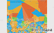 Political 3D Map of Mali