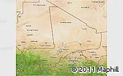 Satellite 3D Map of Mali