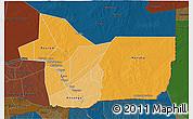 Political Shades 3D Map of Gao, darken