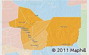 Political Shades 3D Map of Gao, lighten
