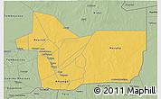 Savanna Style 3D Map of Gao